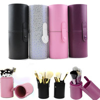 15 Types PU Leather Travel Cosmetic Brushes Pen Holder Storage Empty Holder Makeup Artist Bag Brushes Organizer Make Up Tools