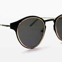 Spitfire - Warp Black & Gold Sunglasses, Black Lenses