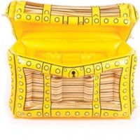 1 X Inflatable Pirate Treasure Chest Cooler.
