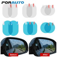 2PCS/Set Anti Fog Car Mirror Window Clear Film Membrane Anti-glare Waterproof Rainproof Car Sticker Car Styling Accessories