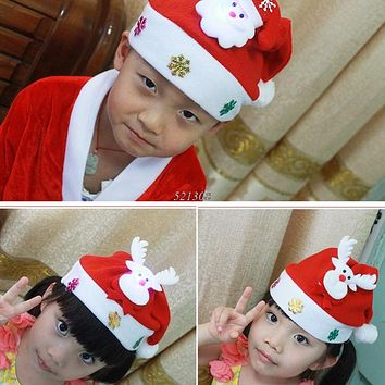 Infant Newborn Baby Hat Xmas Warm Christmas Costume Party Boy Cap Santa Gift