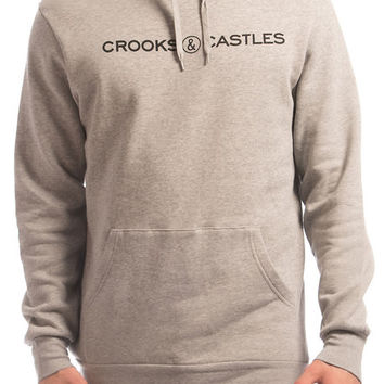 The Etched Medusa Pullover Hoodie in Heather Gray