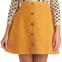 Back to Scholastic Skirt in Pencil Yellow | Mod Retro Vintage Skirts | ModCloth.com