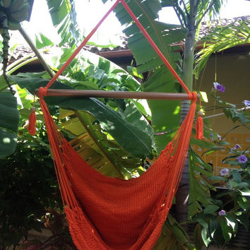 Mission Hammocks Hanging Hammock Chair Organic Cotton - Orange