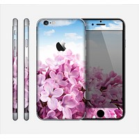 The Blue Sky Pink Flower Field Skin for the Apple iPhone 6