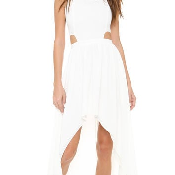 Sleeveless Cutout  Asymmetrical Dress