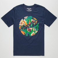Hurley Jungle Floral Dri-Fit Mens T-Shirt Navy  In Sizes
