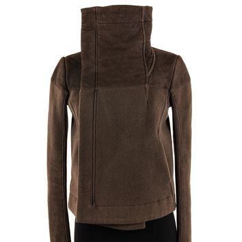 Rick Owens Wool / Cashmere Jacket with Funnel Collar