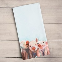 Three Little Piggies Tea Towels