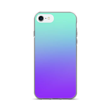 Turquoise Purple Ombre Fade iPhone 7/7 Plus Case