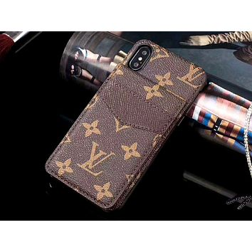 GUCCI & LV Tide brand card insertion simple and versatile iPhone8 mobile phone case #1