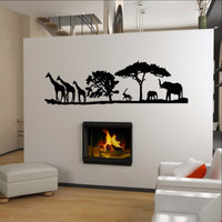 African Savannah Animals Vinyl Wall Decal 22346