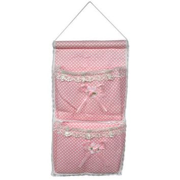 [Polka Dot & Lace] Pink/Wall Hanging/ Wall Baskets