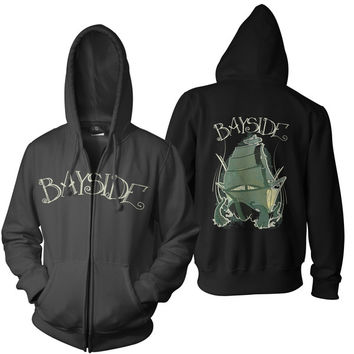 Bayside: Pirate Ship Zip Up Hoodie (Black)