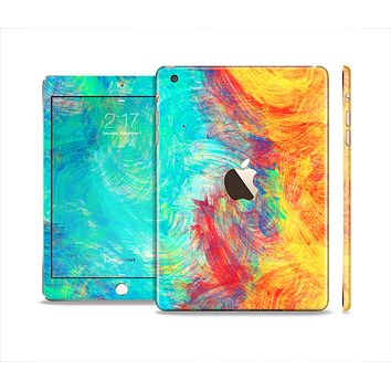 The Vibrant Colored Messy Painted Canvas Full Body Skin Set for the Apple iPad Mini 3