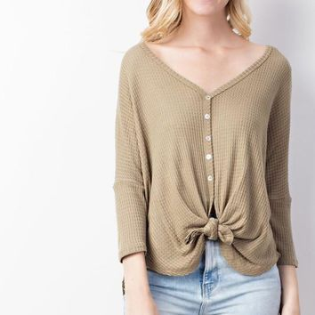 Delilah Knot Top | Sage  | Plus