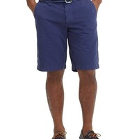 "Garment-Dyed Plain-Front 11"" Twill Bermuda Shorts - Brooks Brothers"