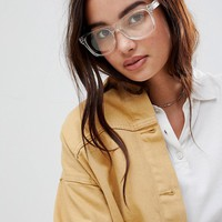 7X Clear Lens Glasses at asos.com