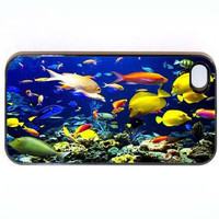 iPhone 4 4s Case Fish Under The Sea Hard iPhone by KustomCases