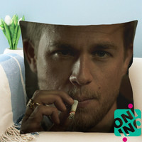 Charlie Hunnam Jax Teller Son of Anarcy Zippered Pillow Case, Cushion Case, Pillow case