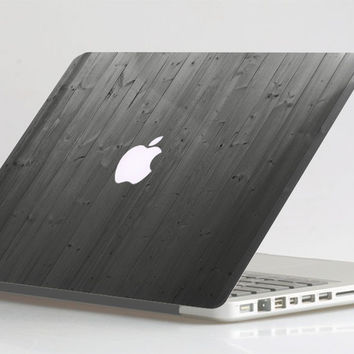 Black Wood Grain for Apple MacBook Decal Air Pro Retina 11 /13 /15 and Universal