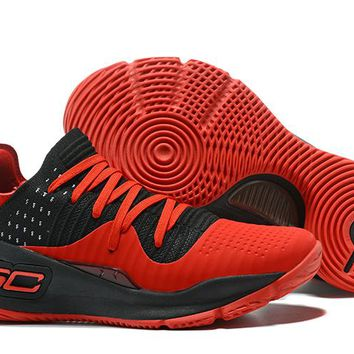 Under Armour Men's SC30 Stephen Curry 4 Low Red/Black Sport Sneaker