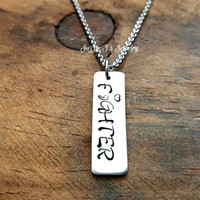 Fighter Semicolon Necklace, My Story Isn't Over Yet, Semicolon Necklace, Suicide Awareness, Suicide Prevention, Inspirational Gift