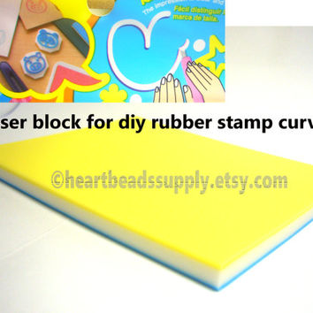 DIY Eraser stamp curving block | print making | keshigomu | id1340755 | rubber stamp block | DIY stamp curving | supply | scrapbooking tool