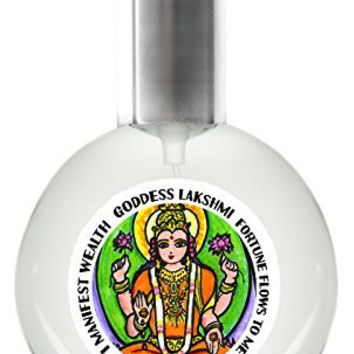 Goddess Lakshmi Manifesting Fortune Dry Oil Perfume Spray One Ounce