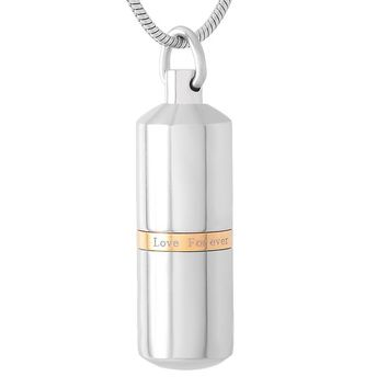 IJD9141 Silver/Gold/Black collar With Love Forever capsule Cremation Necklace Ashes Holder Keepsake  Pill Memorial Urn Jewelry