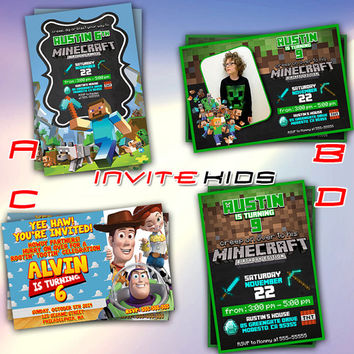 Toy Craft Story Game - Invitation Card - Birthday Party Kids - InviteKids
