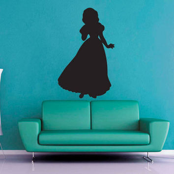 Snow White Silhouette - Wall Vinyl - Large