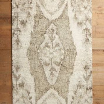 Stretched Ikat Rug by Anthropologie