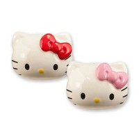 Vandor 18030 Hello Kitty Ceramic Salt and Pepper Set, Multicolored