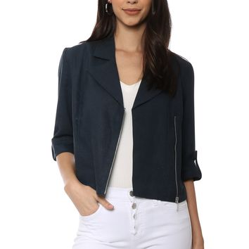 Decker Linen Cropped Jacket