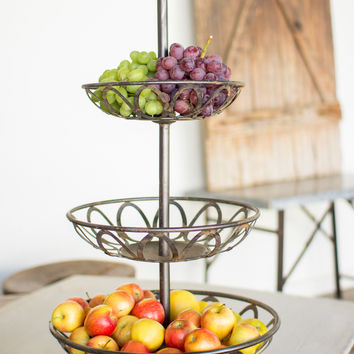 Metal 3 Tiered Serving Tower