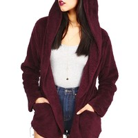 Velvet Fleece Cardigan