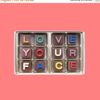 Anniversary Gift for Boyfriend Men Women Girlfriend I Love Your Face Jelly Bean Chocolate Cube Letters Valentines Long Distance Distant