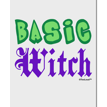 "Basic Witch Color Green Aluminum 8 x 12"" Sign"