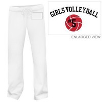 Volleyball Girl: Custom Relaxed Fit Fleece Pants