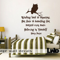 Harry Potter - Quote Wall Decal - Home Decor