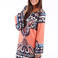 Moroccan Bell Sleeve Dress, Cor
