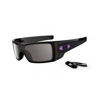 New OAKLEY Batwolf OO9101-08 Polished Black Frame/ Black Iridium Sunglasses