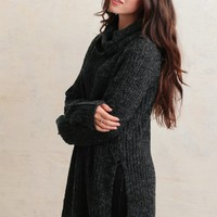 Cabin Creek Oversized Sweater In Charcoal