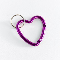 Bison Designs Heart Carabiner Clip Keychain | Urban Outfitters