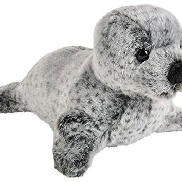 """Wildlife Tree 12"""" Stuffed Spotted Seal Plush Floppy Animal Heirloom Collection"""
