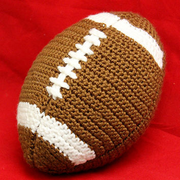 Amigurumi Stuffed Football Toy (Actual Size) Crochet Pattern