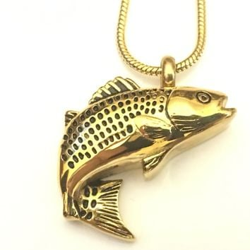 Shop jewelry for ashes on wanelo for Fish cremation jewelry