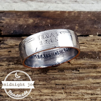 Texas State Quarter Coin Ring