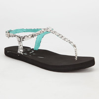 Roxy Tiki Womens Sandals White/Black  In Sizes